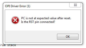 OPI driver error