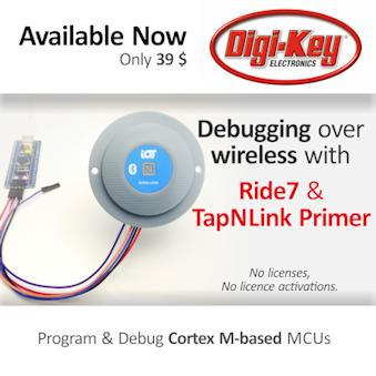Ride7 wireless debugging with TapNLink